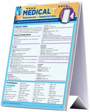 Medical Terminology & Abbreviations Easel (SKU 1009572023)