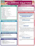 Algebraic Equations Quick Study