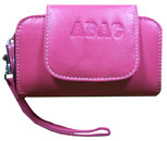 Leather Abac Wristlett Cell Phone/Id Holder