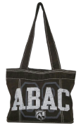 Fieldhouse Tote Bag, Brown with ABAC and Shield in White