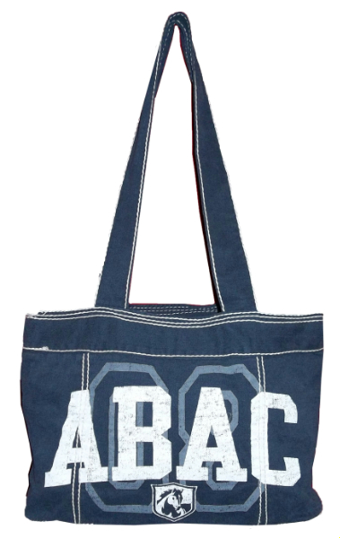 Fieldhouse Tote Bag, Navy with ABAC and Shield in White (SKU 1003080614)