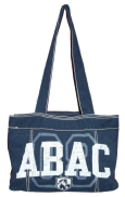 Fieldhouse Tote Bag, Navy with ABAC and Shield in White