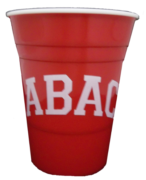 Red Party Cup Abac In White (SKU 100500336)