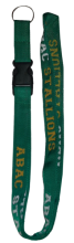 Green Lanyard with  ABAC Stallions in Gold and White