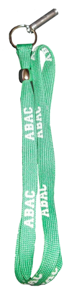 Green Lanyard with  ABAC in Grey Campus Safety (SKU 1005006410)