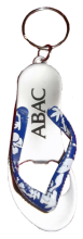 Blue Flip Flop Key Chain with ABAC in White