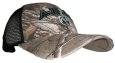 Camo Cap With Black Mesh Abac W/Shield In Green