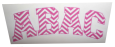 Abac Decal In Pink Chevron Print