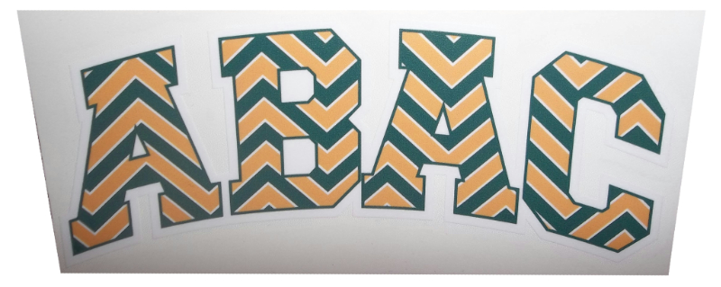Green and Gold ABAC Decal in Chevron print (SKU 100668297)