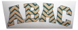 Green And Gold Abac Decal In Chevron Print