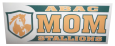 ABAC Mom Decal with Stallions and shield in Green and Gold