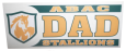 ABAC Dad Decal with Stallions and Shield in Green and Gold