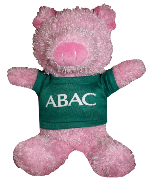 Plush Pig w/Green Shirt, ABAC in White (SKU 1006875512)