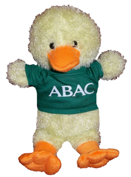 Plush Duck w/Green Shirt, ABAC in White (SKU 1006876212)