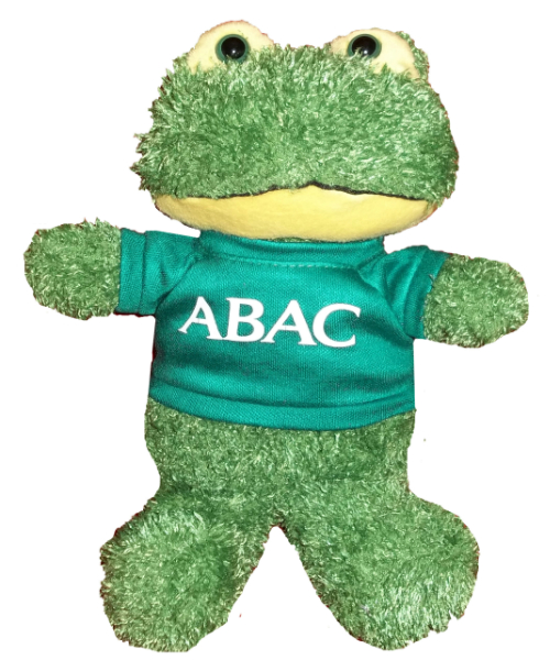 Plush Frog w/Green Shirt, ABAC in White (SKU 1006882312)