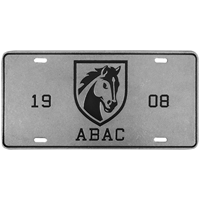 License Plate Pewter Abac Shield 1908