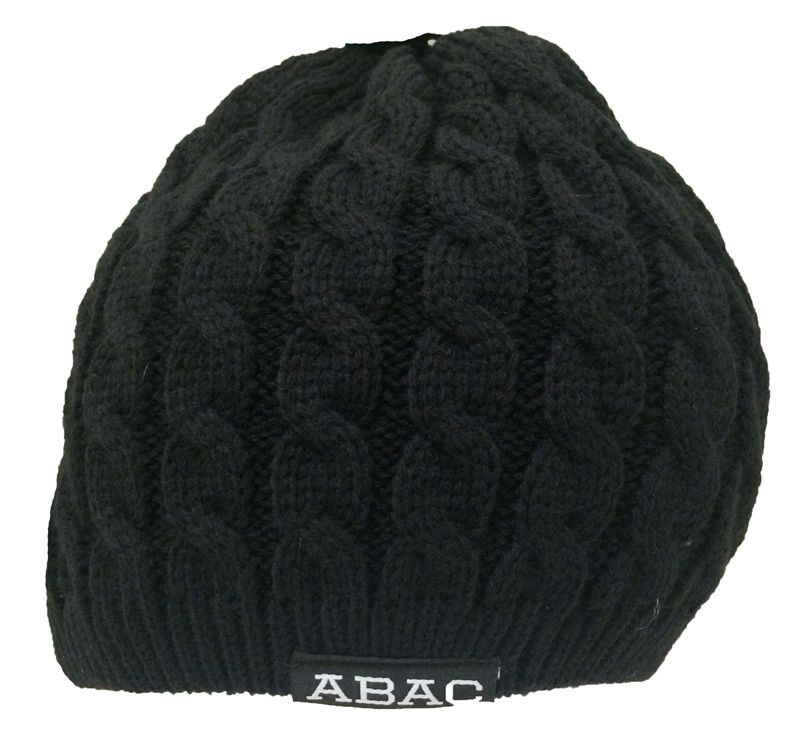 Beanie ABAC in White Woven Knit (SKU 1011584811)