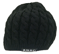 Beanie ABAC in White Woven Knit