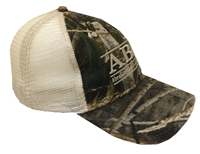 Camo Cap With Khaki Mesh Back Abac Bar Design