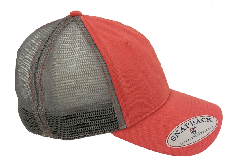 Cap ABAC in Grey Offset to Left Silver Mesh Snapback (SKU 1013565511)