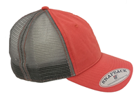 Cap Abac In Grey Offset To Left Silver Mesh Snapback