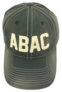 Cap ABAC in White Faded Canvas Felt Letters