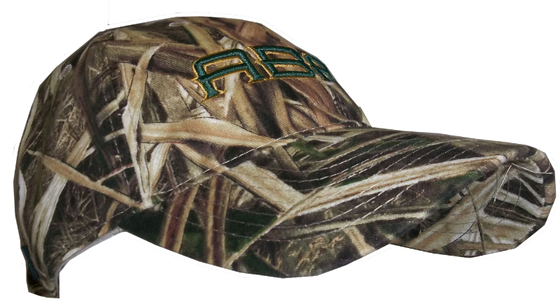 Mossy Oak Camo Cap With Abac In Green Outlined In Gold (SKU 1007297411)