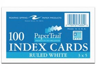 Index Cards 3x5 Ruled 100 ct