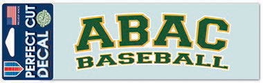Decal ABAC Baseball Green Outlined Gold and White (SKU 1015106827)