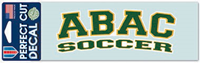 Decal Abac Soccer Green Outlined Gold And White