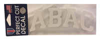 Decal ABAC White Arched