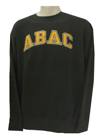 Fleece Crew ABAC Gold Outlined White