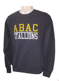 Fleece Crew ABAC Gold Stallions White