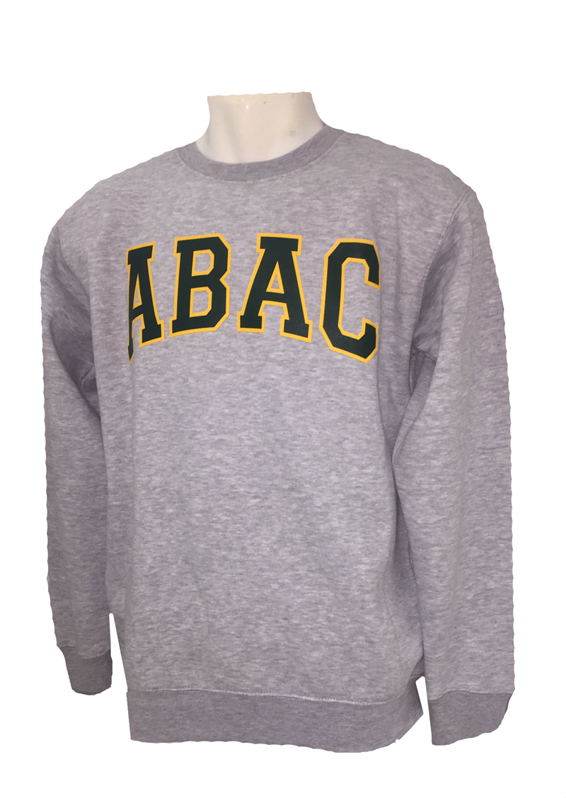 Fleece Crew ABAC Green Outlined Gold (SKU 101552644)