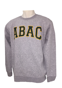 Fleece Crew ABAC Green Outlined Gold