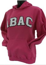 Hooded Sweatshirt with ABAC in White outlined in Black