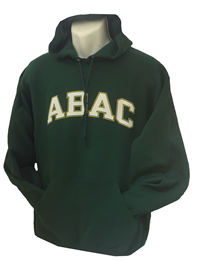 Fleece Hood ABAC White Outlined Gold