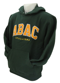 Fleece Hood ABAC in Gold outlined White/Grey Stallions
