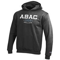 Youth Fleece Hood ABAC White 1908 Grey