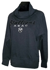 Fleece Cowl Neck Stallions ABAC Shield