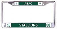 License Plate Frame Abac Stallions 1908 Shield