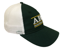 Green Trucker Cap With White Mesh Abac Bar Design