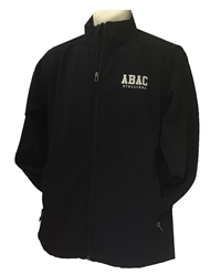 Soft Shell Jacket Black with ABAC in White