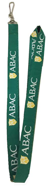 Lanyard Green ABAC in White Shield in Gold