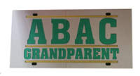 License Plate Mirrored ABAC Grandparent in Green Bar Design