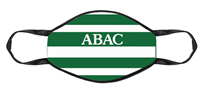 Face Mask Green White Striped ABAC Green