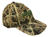 Mossy Oak Camo Cap With Abac In Green Outlined In Gold