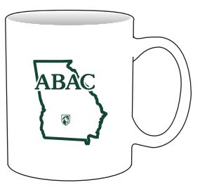White Mug with ABAC in Green State Shield (SKU 101183686)