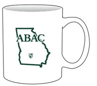 White Mug With Abac In Green State Shield