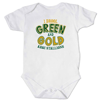 Onesie I Drool Green and Gold